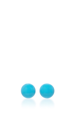 14 K Yellow Gold Turquoise Drop Earrings by MATEO Now Available on Moda Operandi