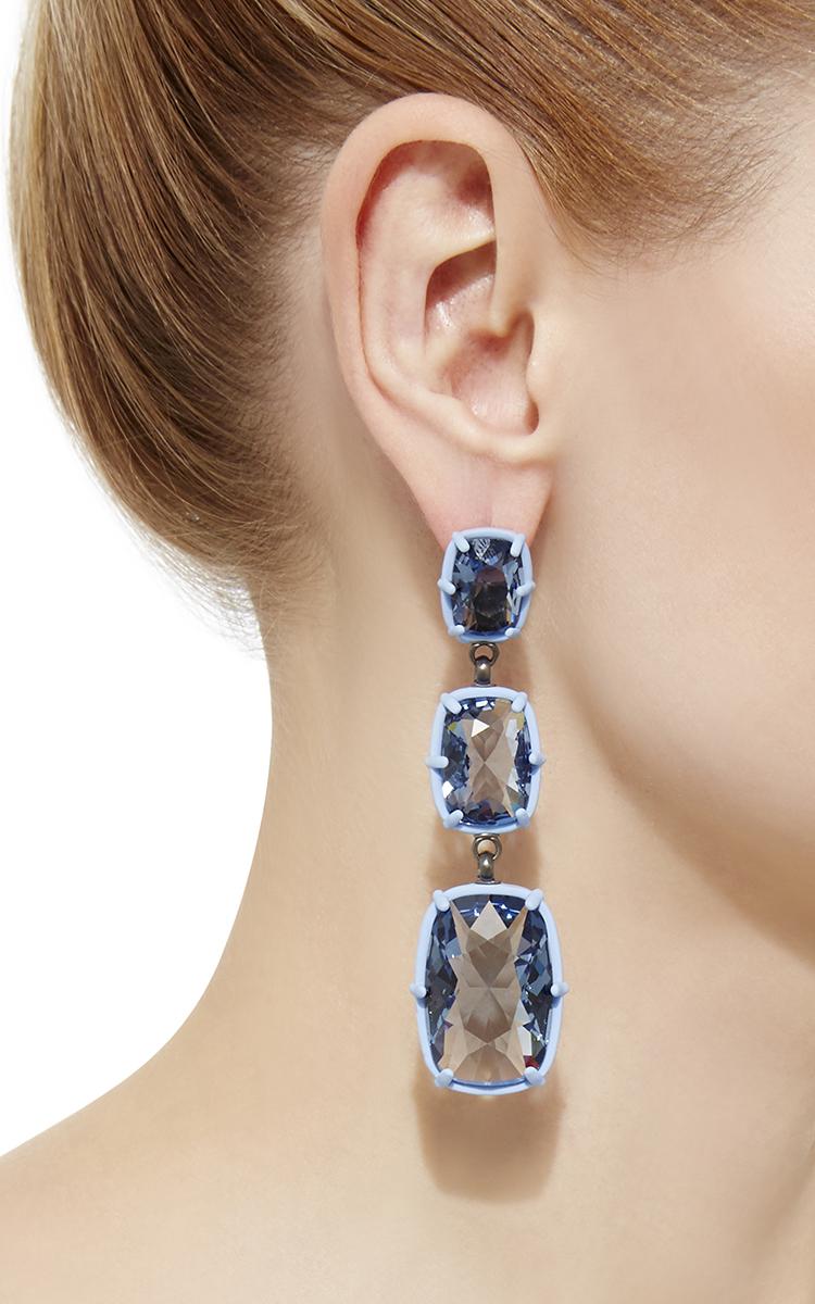 Jewel y drop chandelier earrings by atelier swarovski by rosie loading aloadofball Image collections