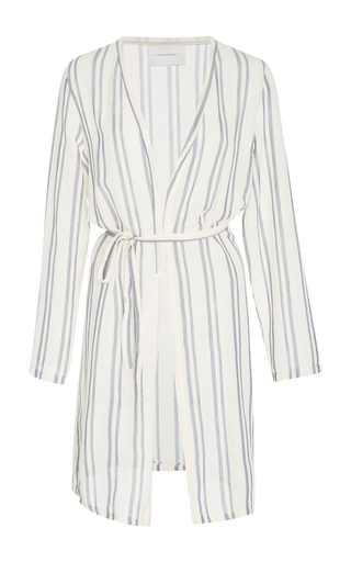 Medium solid striped stripe erin striped wrap robe