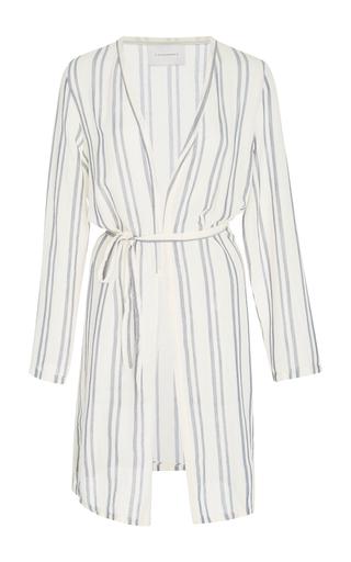 Medium solid striped stripe erin striped wrap robe