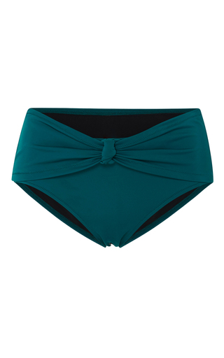 Medium solid striped blue whitney knot bikini bottom 2