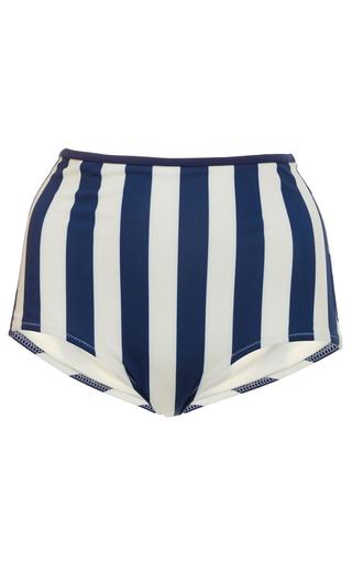 Medium solid striped stripe brigitte solid high rise bikini bottom 2