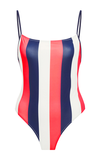 Medium solid striped stripe chelsea striped one piece 2