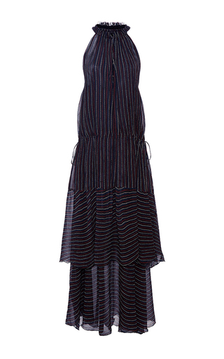 Medium apiece apart stripe pozos tiers maxi dress