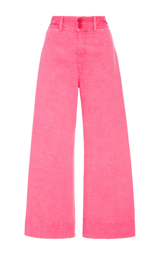 Medium apiece apart pink zinc pink cropped pants