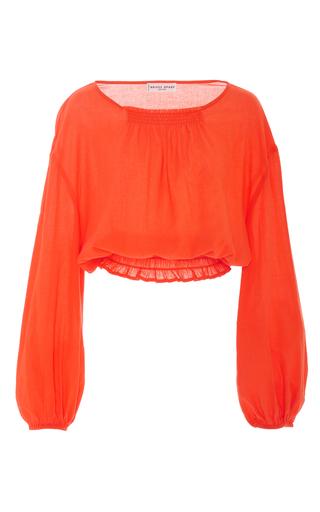 Medium apiece apart orange palizada balloon sleeve top
