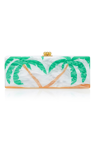 Medium edie parker green flavia palms clutch