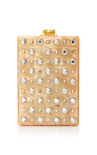 Medium edie parker brown carol stud clutch