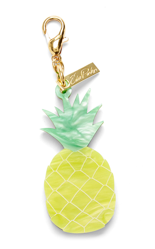 Medium edie parker yellow pineapple charm