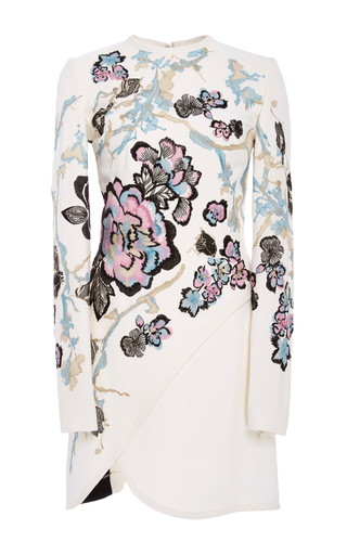 Medium elie saab floral long sleeve embroidered mini dress
