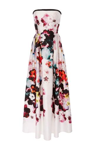 Medium elie saab floral strapless floral dress