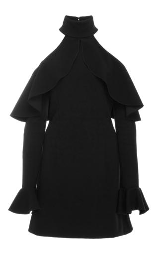Medium elie saab black bare shoulder cocktail dress