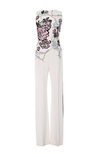 Medium elie saab floral sleeveless embroidered jumpsuit