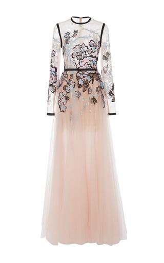 Medium elie saab floral long sleeve embroidered gown