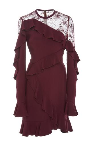 Medium elie saab purple long sleeve ruffled dress