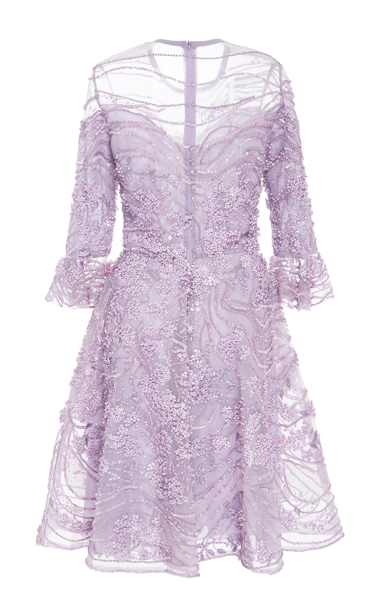 Three Quarter Length Sleeve Cocktail Dress by Elie Saab | Moda Operandi