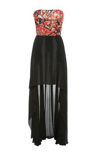 Medium elie saab multi strapless high low dress