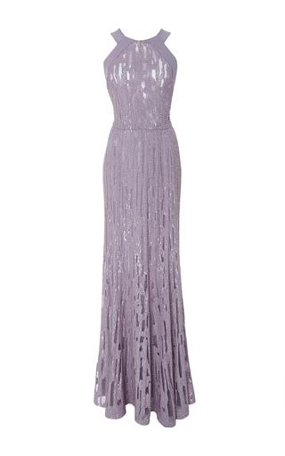 Medium elie saab purple beaded gown