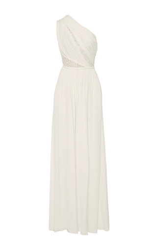 Medium elie saab ivory wide legged jumpsuit