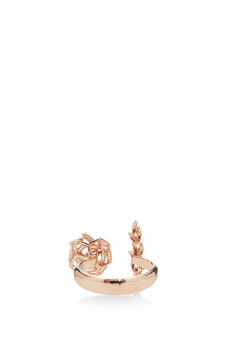 Double Round & Bar Ring by SUZANNE KALAN Now Available on Moda Operandi