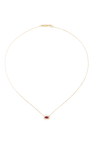 Medium suzanne kalan gold one of a kind ruby necklace
