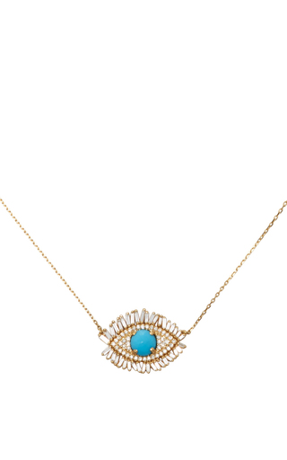 Medium suzanne kalan gold evil eye necklace