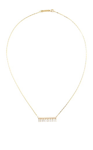 Dangle Short Bar Necklace by SUZANNE KALAN Now Available on Moda Operandi