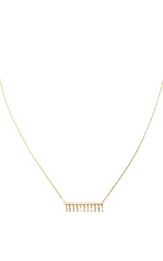 Medium suzanne kalan gold dangle short bar necklace
