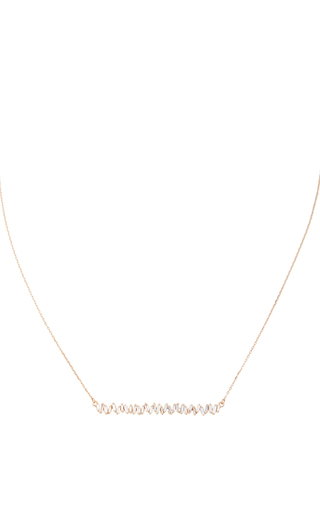 Medium suzanne kalan gold long zig zag bar necklace
