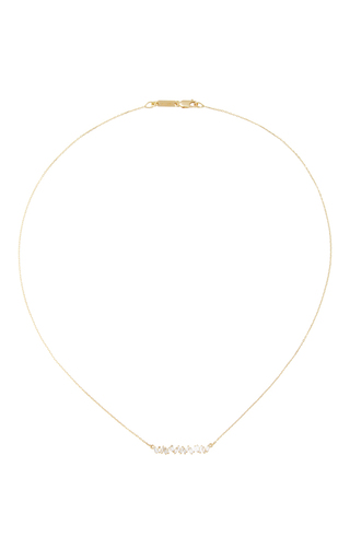 Short Zig Zag Bar Necklace by SUZANNE KALAN Now Available on Moda Operandi