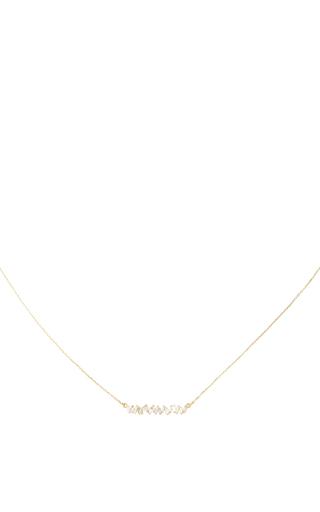 Medium suzanne kalan gold short zig zag bar necklace