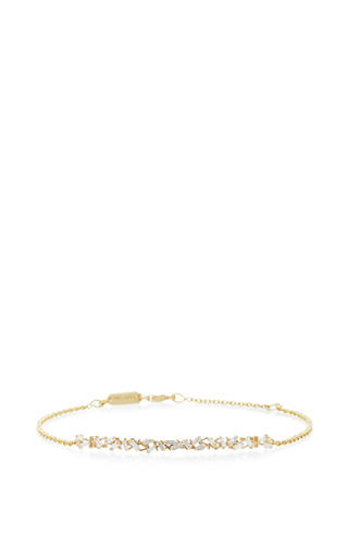 Mini Bar & Chain Bracelet by SUZANNE KALAN Now Available on Moda Operandi