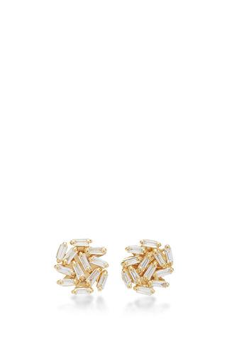 Medium suzanne kalan gold round stud earring