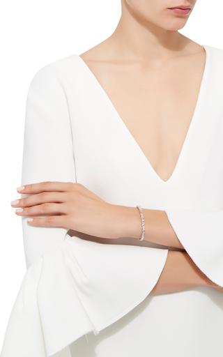 White Gold Zig Zag Cuff by SUZANNE KALAN Now Available on Moda Operandi