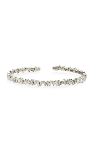 Medium suzanne kalan silver white gold zig zag cuff