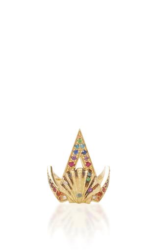 Medium venyx multi 18k yellow gold naida rainbow ring