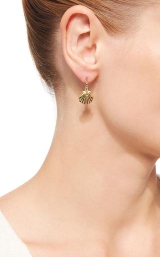 18 K Yellow Gold Rainbow Lady Earrings by VENYX Now Available on Moda Operandi