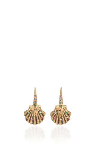 Medium venyx multi 18k yellow gold rainbow lady earrings