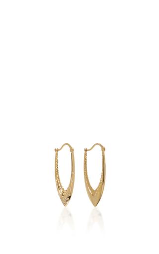 Medium venyx gold 18k yellow gold parrot star fish earrings