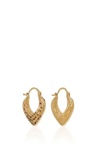 Medium venyx multi 18k yellow gold bear paw heart earrings