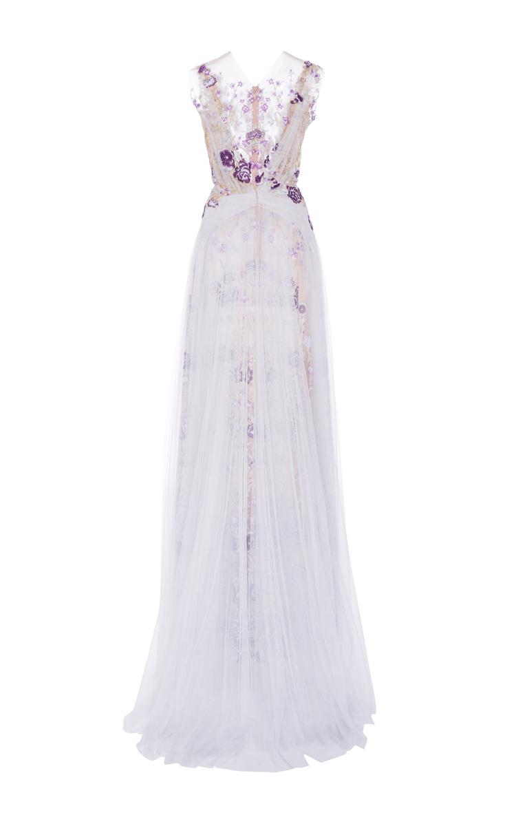 e554e9f1dcd Illusion Floral Embroidered Gown
