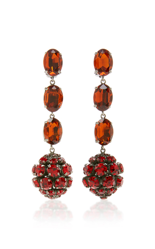 Medium marni red strass earrings