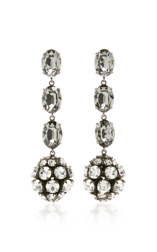 Medium marni silver strass earring