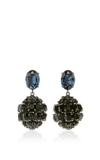 Medium marni black black strass earrings