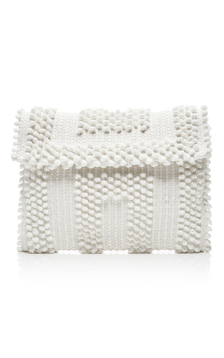 Medium antonello ivory suni quadri clutch