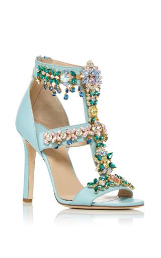 Medium elie saab light blue glazed calfskin evening sandal