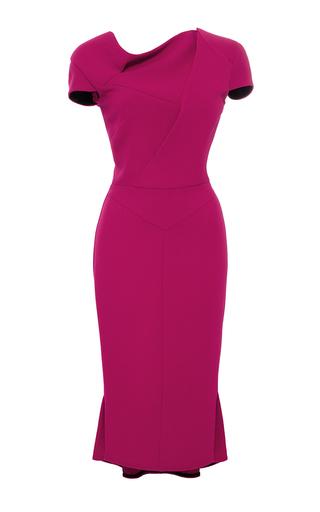 Medium roland mouret pink double wool crepe farrant dress