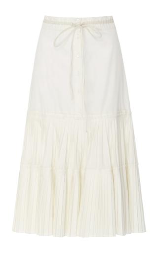 Medium brock white solange cotton silk skirt