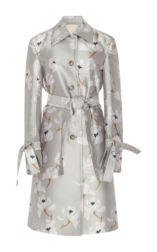 Medium brock floral caia escapade silk blend coat