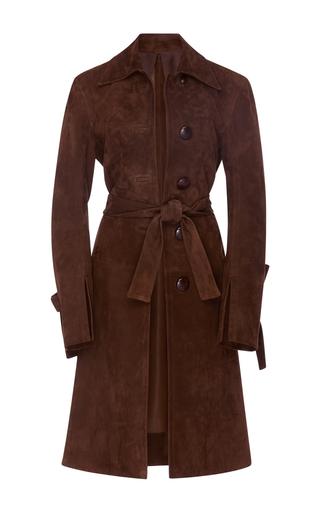 Medium brock brown caia suede coat